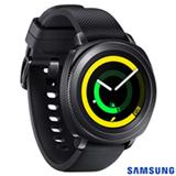 Gear Sport Samsung Preto com Display Curvo de 1,2'', Pulseira de Silicone, Wi-Fi, Bluetooth e 4GB