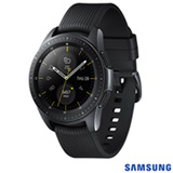 "Galaxy Watch LTE 42mm Samsung Preto com 1,2"", Pulseira de Silicone, Bluetooth e 4GB"