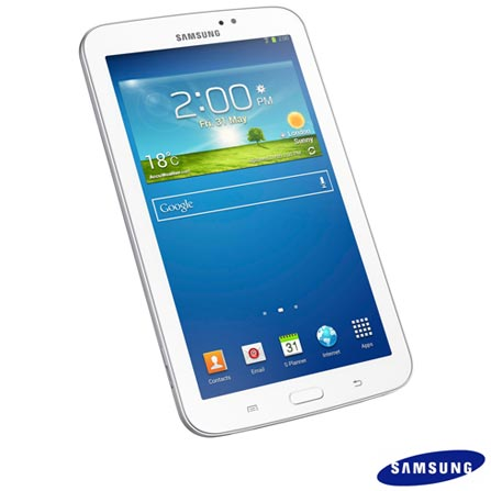 Tablet Galaxy Tab 3 8.0 Branco com 3G e Wi-Fi – SGT3110, 16 GB, Wi-Fi + 3G, 8'', Intel® Quad Core, 5.0 MP, Sim, 01 ano, Branco
