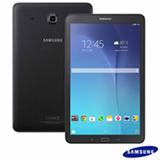 """Tablet Samsung Galaxy Tab E Preto com 9,6"""", Wi-Fi, Android 4.4, Processador Quad-Core 1.3 GHz e 8 GB"""