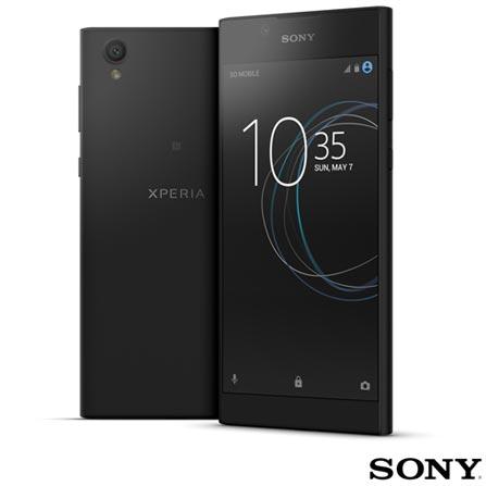 Xperia L1 Preto Sony com Tela de 5,5, 4G, 16 GB, 13 MP - XPERIAL1 + Cartao de Memoria Micro SD com 16 GB Ultra Sandisk, 1, Android acima de 4''