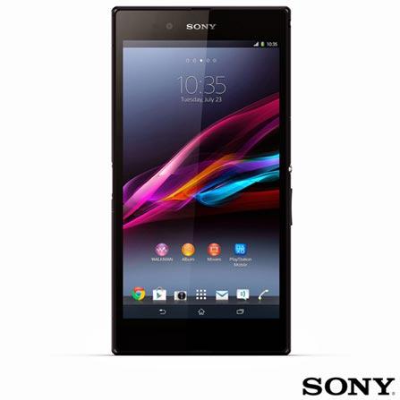 """Smartphone Sony Xperia Z Ultra Preto com 4G e Wi-Fi + Smartphone Sony Xperia M Branco com Display de 4"""", 3G e Wi-Fi, 0, Android acima de 4'', 01 ano"""