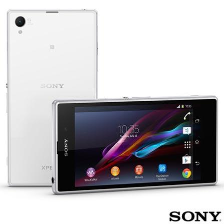 """Smartphone Sony Xperia Z1 Branco com Display Full HD de 5"""", Android 4.2, 4G e Wi-Fi + Software de Segurança McAfee® LiveSafe, Android acima de 4''"""