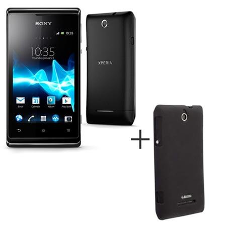 Smartphone Sony Xperia E Dual Chip C1604 + Capa Protetora Krusell Preta - KS897951, 0, Android até 4''