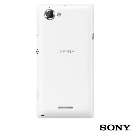 Smartphone Sony Xperia L Branco com Android 4.1 + Capa Protetora Krusell Branca - KS898241, 0, Android acima de 4''