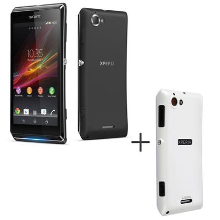 Smartphone Sony Xperia L Preto com Android 4.1 + Capa Protetora Krusell Branca - KS898241, 0, Android acima de 4''