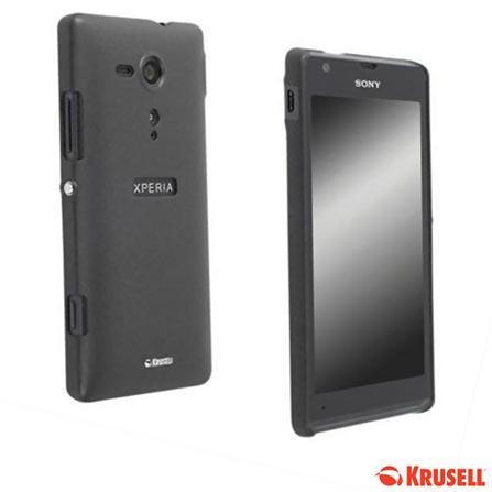 Smartphone Sony Xperia SP Preto com 4G, 8 GB de memoria-Desbloqueado Claro + Capa Protetora Krusell para Xperia- SP Preta, 0, Android acima de 4''