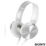 Fone de Ouvido Sony Headphone Branco - MDR-XB450AP/W