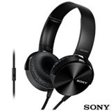 Fone de Ouvido Sony Headphone Preto - MDR-XB450AP