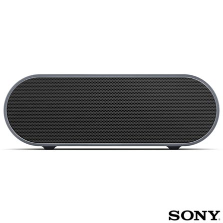Caixa Acústica sem Fio Sony com Potência de 20 W e Conectividade Bluetooth e NFC - SRSX2, Bivolt, Bivolt, Preto, Caixas Portáteis, Sim, 20 W, Sim, Não, iOS e Android, 12 meses