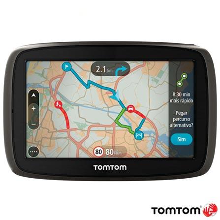 """Navegador GPS TomTom GO 60 com Tela de 6,0"""", Bivolt, Bivolt, Cinza"""