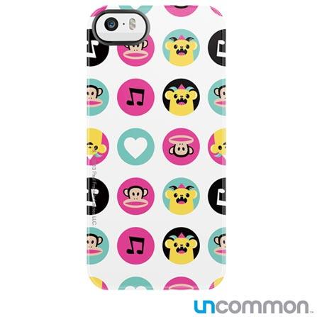 Capa para iPhone 5 e 5s Paul Frank Lovable Monster Dots Branca Estampada Uncommon - C0005JY, Branco, Capas e Protetores, 12 meses