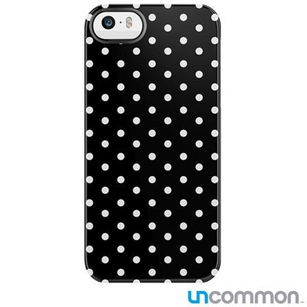 Capa Mini Dots para iPhone 5 e 5s Preta e Branca Uncommon - C0088KZ, Branco e Preto, Capas e Protetores, 12 meses