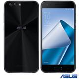 """Zenfone 4 Preto Asus, com Tela de 5,5"""", 4G, 64 GB, 4 GB de Memória RAM e Câmera Dual de 12+8MP - ZE554KL-1A119BR"""