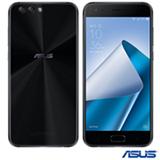 """Zenfone 4 Preto Asus, com Tela de 5,5"""", 4G, 64 GB, 4 GB de Memória RAM e Câmera Dual de 12+8MP - ZE554KL-1A055BR"""