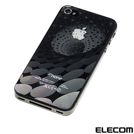 Película Protetora para iPhone 4/4S Elecom PS-A11BFT08 com Efeito 3D Tornado, Não se aplica