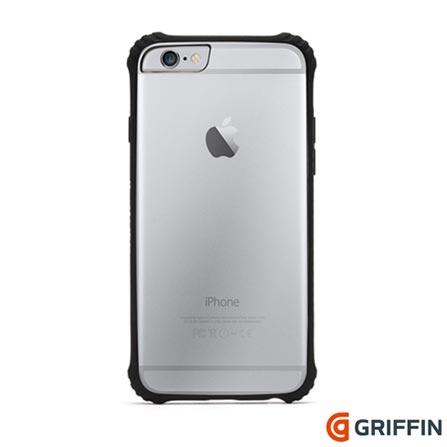 Capa para iPhone 6 Survivor Clear de Plástico Preta Griffin - GB38865, Capas e Protetores, 06 meses