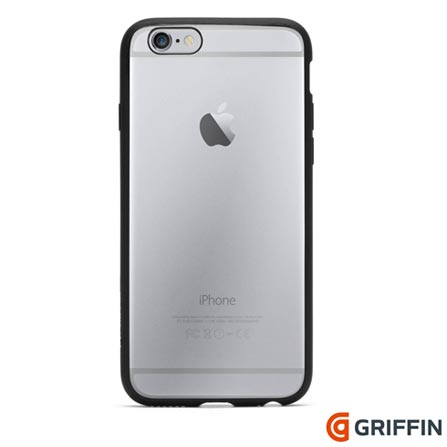 Capa para iPhone 6s Reveal de Plástico Preta Griffin - GB39040, Preto, Capas e Protetores, 06 meses