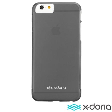 Capa para iPhone 6 Gel Jacket Clear Preta X Doria - 428699, Preto, Capas e Protetores, 06 meses
