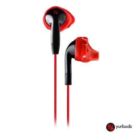 Fone de Ouvido Yurbuds Intra-Auricular Preto e Vermelho - YBInspire100, Preto e Vermelho, Intra-auricular, 12 meses