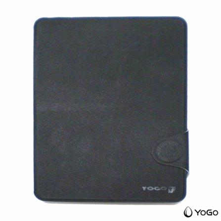 Capa para iPad Mini Fólio em Couro Preta Yogo