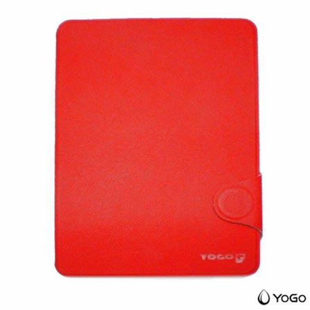 Capa para iPad Mini Fólio em Couro Vermelha Yogo, Vermelho
