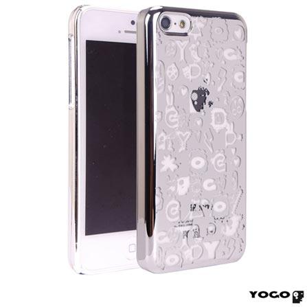 Capa Protetora Yogo com Desenhos para iPhone 5C Prata, Prata, 06 meses