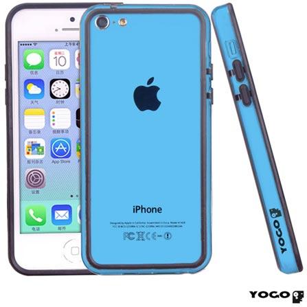 Capa Bumper Posterior para iPhone 5C Preta - Yogo - BUM01, Capas e Protetores, 06 meses