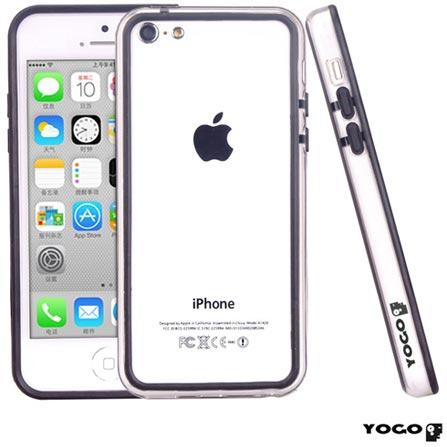 Capa Bumper Posterior para iPhone 5C Branco - Yogo - BUM02, Branco, Capas e Protetores, 06 meses