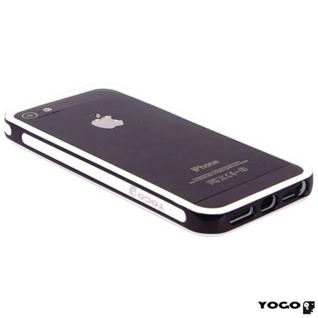 Capa Yogo Bumper Posterior para iPhone 5 e 5s - Preta - YGBUM04BW, Capas e Protetores, 06 meses