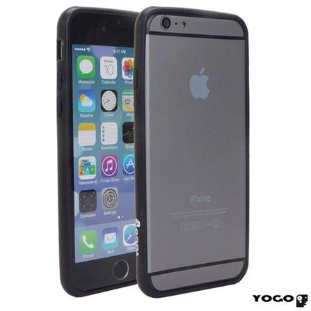 Capa Bumper para iPhone 6 de Plástico Preto - I6-017BLK, Capas e Protetores, 06 meses