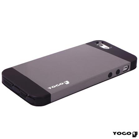 Capa Yogo Posterior para iPhone 5 e 5s - Preto e Cinza - YGSPIBLK, Preto e Cinza, Capas e Protetores, 06 meses