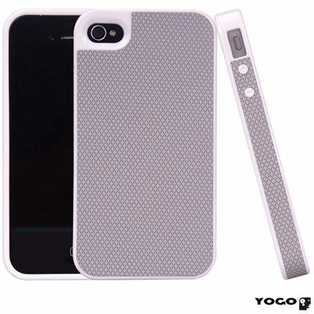 Capa Protetora em TPU Yogo para iPhone 4S Cinza, Cinza, 06 meses