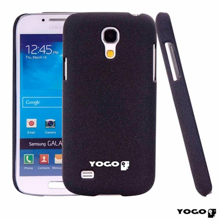 Capa Protetora Yogo Preto para Galaxy S4 Mini Sand, 06 meses