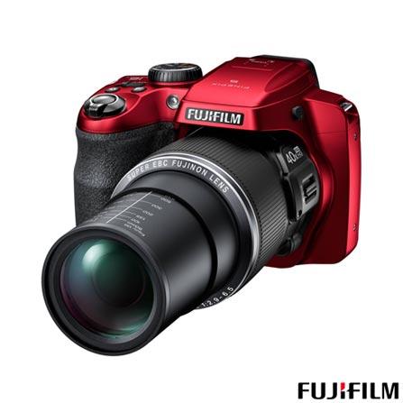 Câmera Digital Fujifilm FinePix S8200 Vermelha 16 MP + Carregador de Pilhas AA e AAA Philips, De 14.1 MP a 16 MP, 0