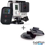 Filmadora GoPro Hero3+ Black Cinza, com 12.0 MP - HERO3BLK + Kit com Suportes Planos e Curvos - AACFT-001