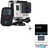 Filmadora GoPro Hero3+ Black Cinza, com 12.0 MP - HERO3BLK + Tela LCD GoPro Hero Touchscreen - ALCDB-301
