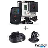 Filmadora GoPro Hero3+ Black Cinza, com 12.0 MP - HERO3BLK + Suporte de Tripé Fotográfico Preto - ABQRT001