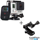 Filmadora GoPro Hero3+ Black Cinza, com 12.0 MP - HERO3BLK + Suporte Frontal GoPro para Capacete - AHFMT-001