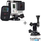 Filmadora GoPro Hero3+ Black Cinza, com 12.0 MP - HERO3BLK + Suporte Lateral para Câmeras - AHEDM-001