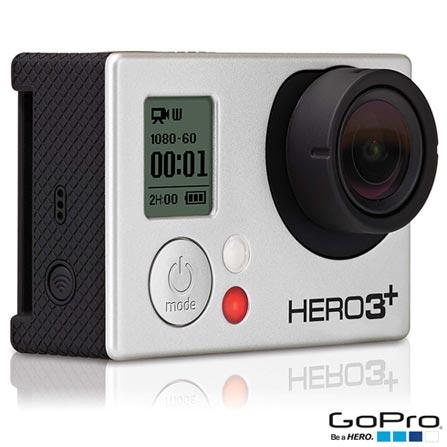Filmadora GoPro Hero3+ Black Cinza, com 12.0 MP - HERO3BLK + Suporte Lateral para Câmeras - AHEDM-001, 0