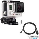 Filmadora GoPro Hero3+ Silver com 10.0 MP - HERO3SILV + Cabo Micro HDMI - AHDMC-301