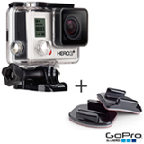 Filmadora GoPro Hero3+ Silver, com 10.0 MP - HERO3SILV + Kit com Suportes Planos e Curvos GoPro - AACFT-001