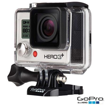 Filmadora GoPro Hero3+ Silver, com 10.0 MP - HERO3SILV + Kit com Suportes Planos e Curvos GoPro - AACFT-001, 0