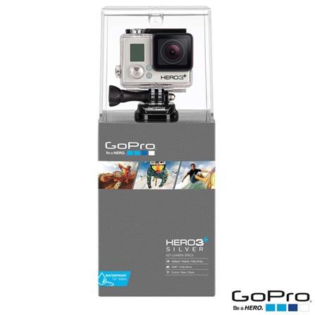 Filmadora GoPro Hero3+ Silver, com 10.0 MP - HERO3SILV + Carregador Veicular com 2 Saídas USB para HD - ACARC-001, 0