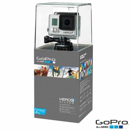 Filmadora GoPro Hero3+ Silver com 10.0 MP - HERO3SILV + Controle Remoto Go Pro HERO3 Wi-Fi Remote - ARMTE-001, 0