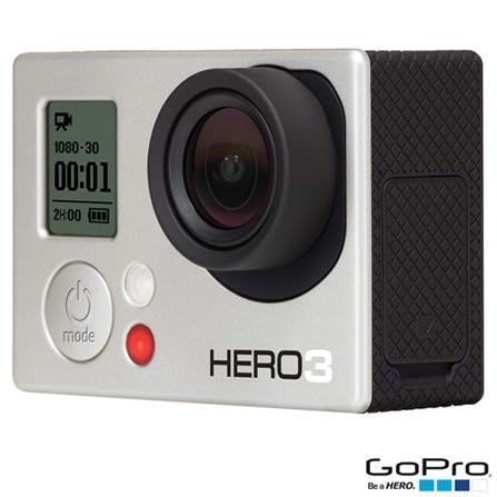 Filmadora GoPro Hero3 White, com 5.0 MP - HERO3WTE + Cabo Micro HDMI para Câmera HERO3 GoPro - AHDMC-301, 0