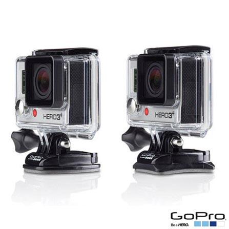 Filmadora GoPro Hero3 White com 5.0 MP - HERO3WTE + Kit com Suportes Planos e Curvos GoPro HERO - AACFT-001, 0