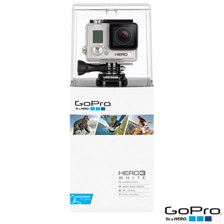 Filmadora GoPro Hero3 White com 5.0 MP - HERO3WTE + Tela LCD GoPro Hero Touchscreen para Câmeras - ALCDB-301, 0