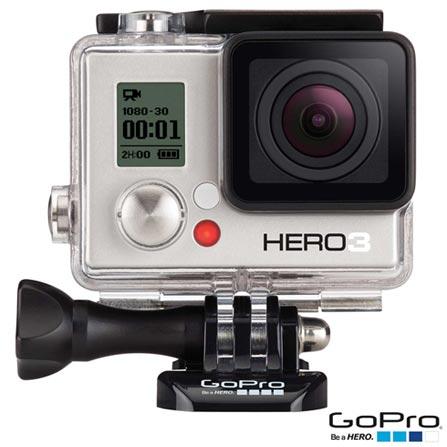 Filmadora GoPro Hero3 White com 5.0 MP - HERO3WTE + Carregador Veicular com 2 Saídas USB para HD - ACARC-001, 0